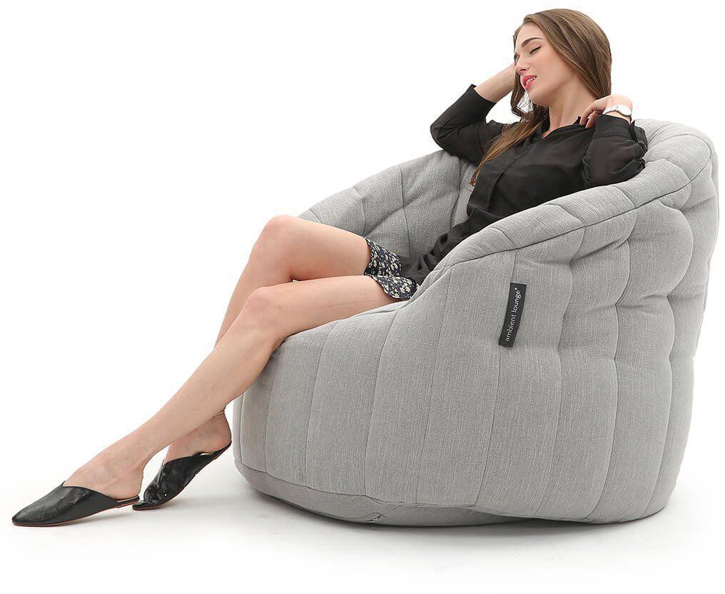 ambient lounge butterfly sofa keystone grey
