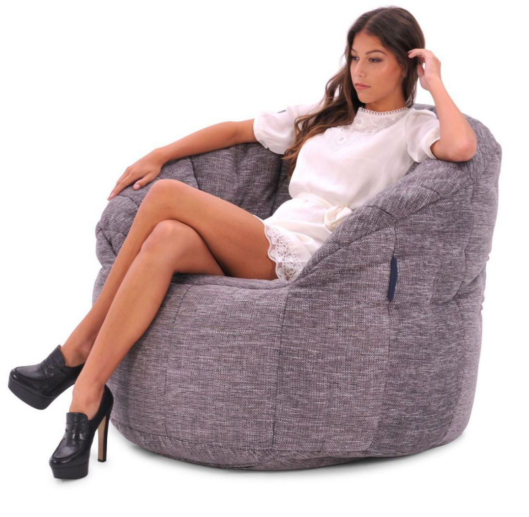 ambient lounge butterfly sofa luscious grey