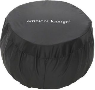 Ambient Lounge Ottoman Wing Fitted Cover - Zwart