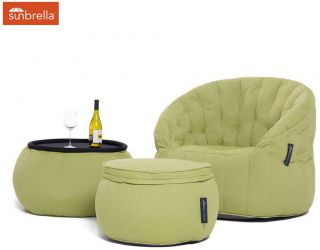 Ambient Lounge Outdoor Designer Set Contempo Package - Limespa Sunbrella