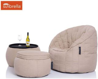 Ambient Lounge Outdoor Designer Set Contempo Package - Mudhoney Dune Sunbrella