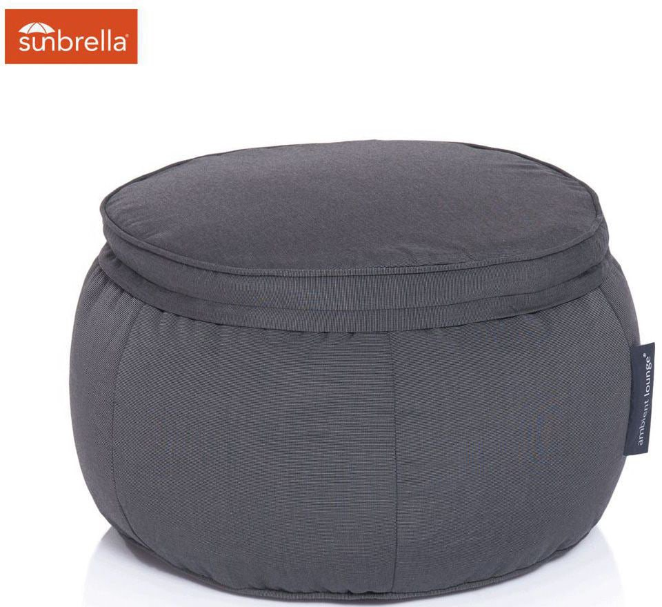 ambient lounge outdoor poef wing ottoman black rock