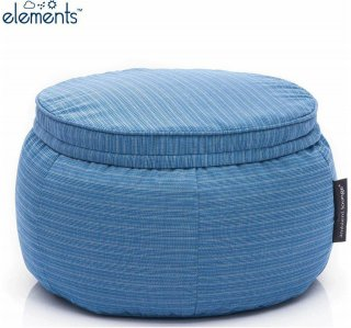 Ambient Lounge Outdoor Poef Wing Ottoman - Oceana