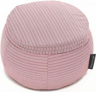 Ambient Lounge Outdoor Poef Wing Ottoman - Raspberry Polo