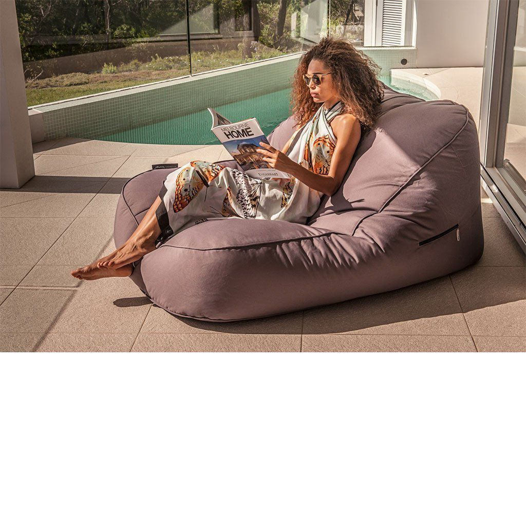 ambient lounge outdoor satellite twin sofa carefree grey