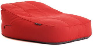 Ambient Lounge Outdoor Satellite Twin Sofa - Crimson Vibe Sunbrella