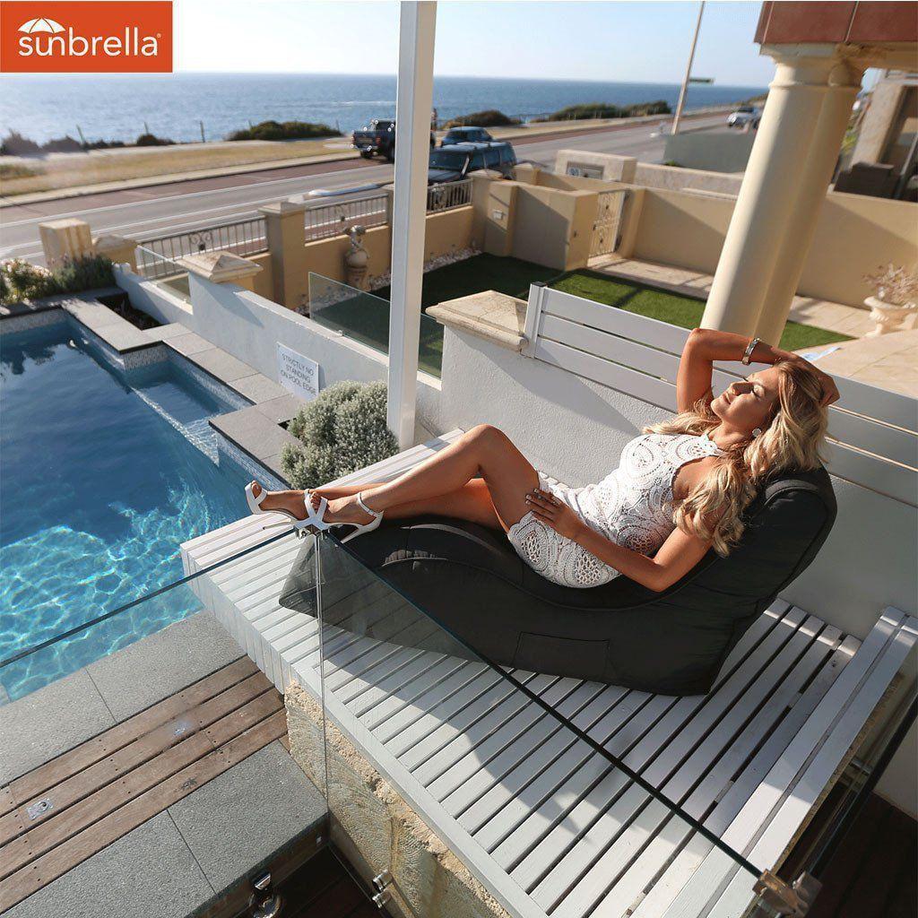 ambient lounge outdoor sunbrella avatar sofa black rock