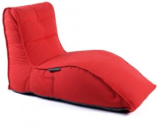 Ambient Lounge Outdoor Sunbrella Avatar Sofa - Crimson Vibe