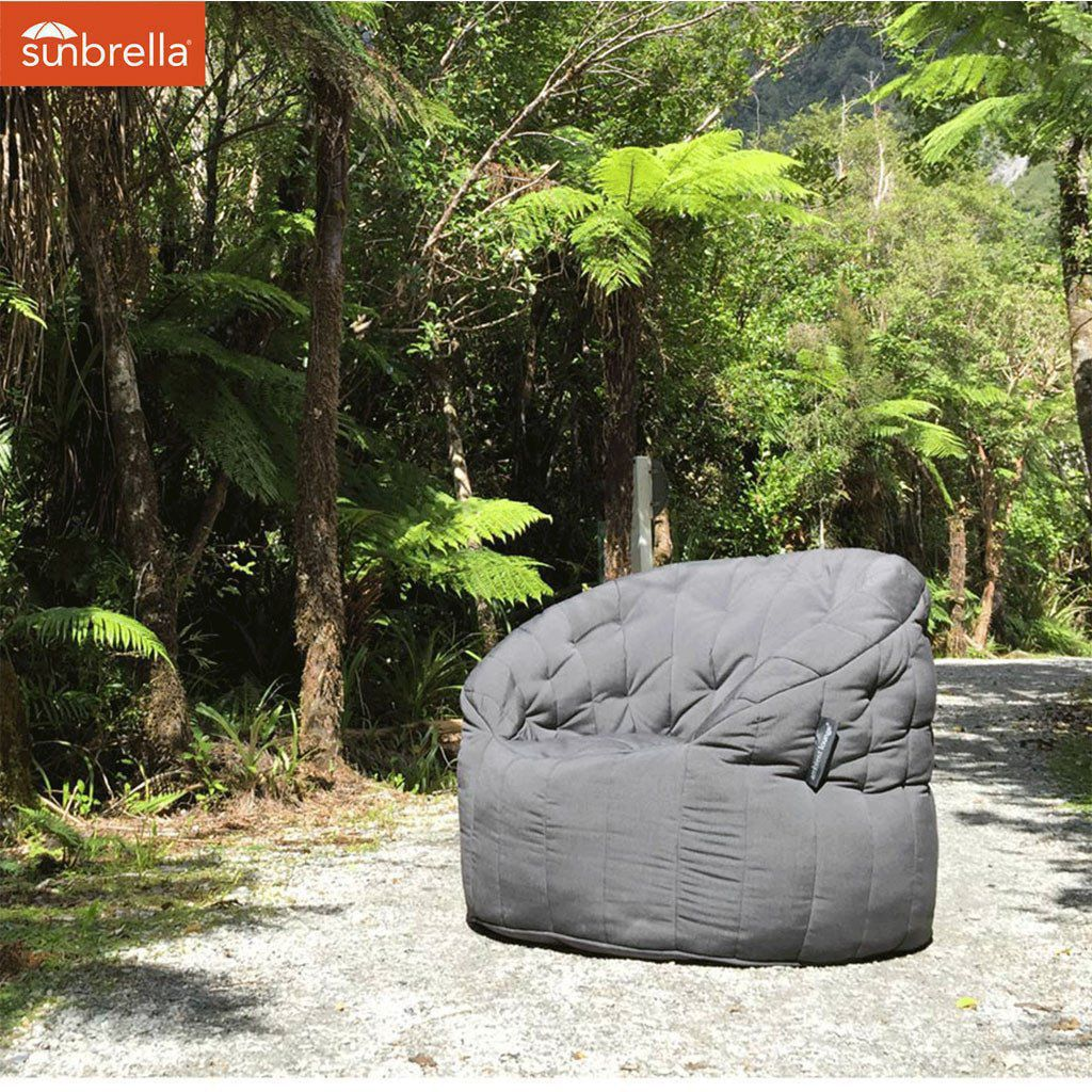 ambient lounge outdoor sunbrella butterfly sofa black rock
