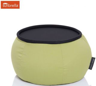 Ambient Lounge Outdoor Sunbrella Poef Versa Table - Limespa