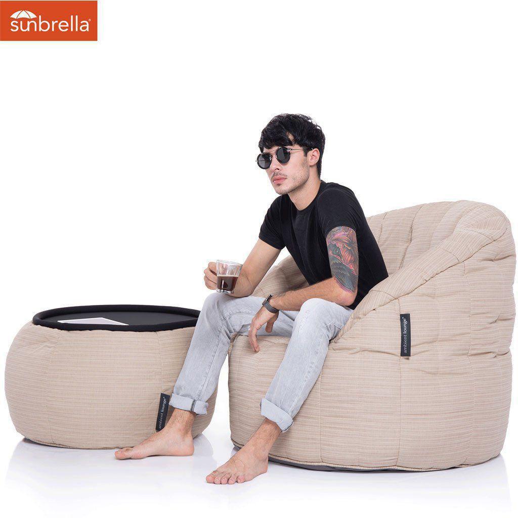 ambient lounge outdoor sunbrella poef versa table midhoney dune