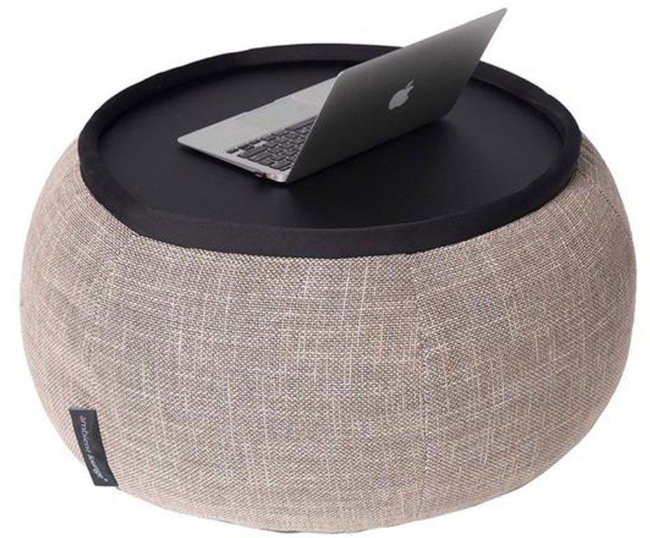 ambient lounge poef versa table eco weave