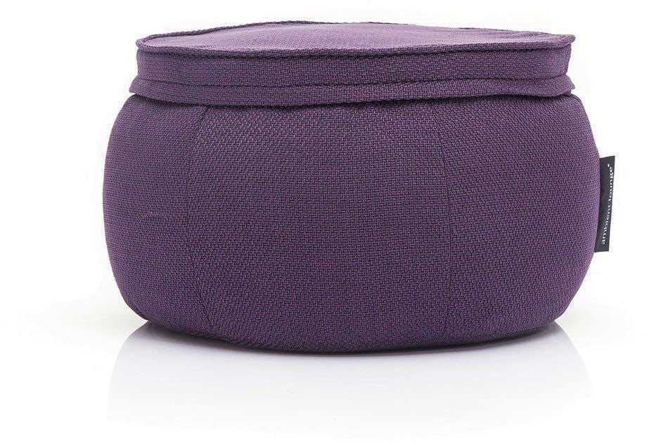 ambient lounge poef wing ottoman aubergine dream