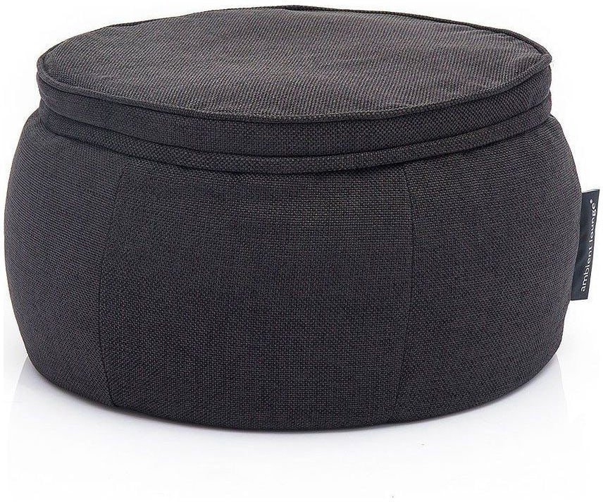 ambient lounge poef wing ottoman black sapphire