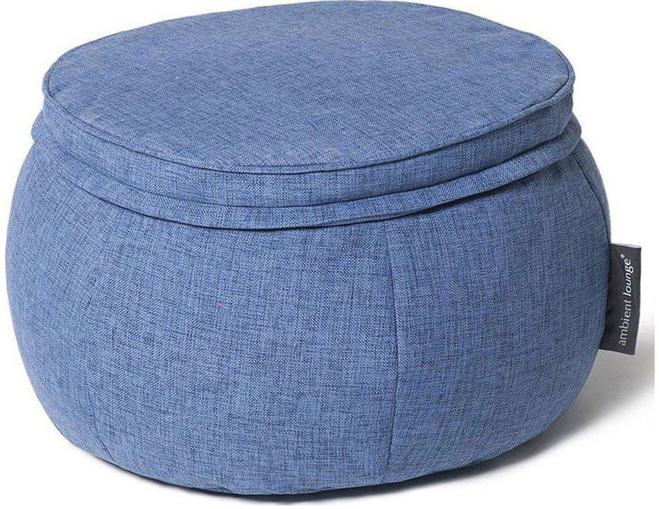 ambient lounge poef wing ottoman blue jazz