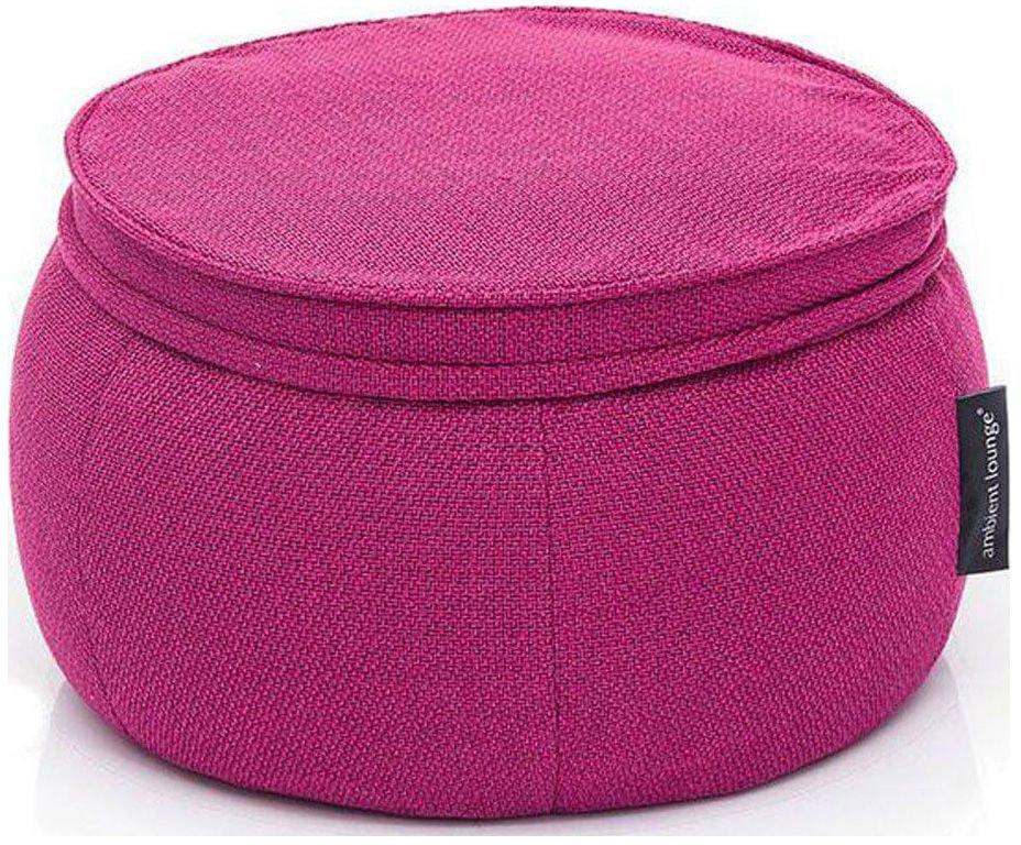 ambient lounge poef wing ottoman sakura pink