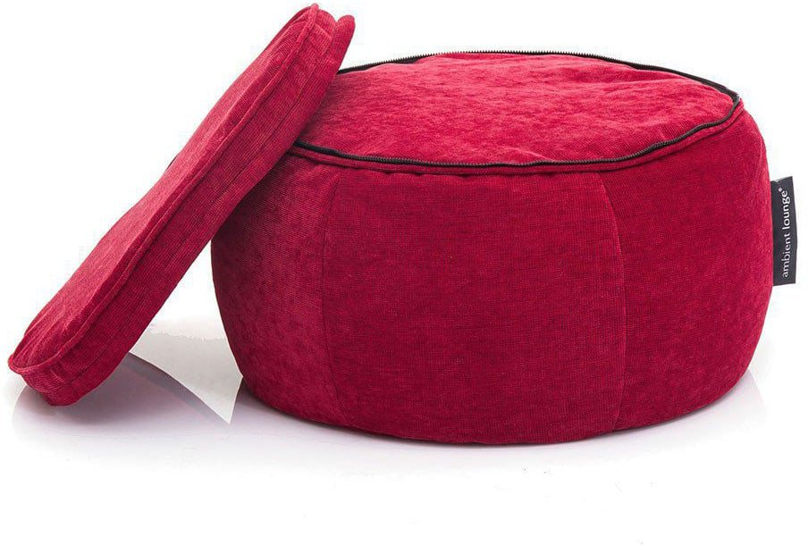 ambient lounge poef wing ottoman wildberry deluxe