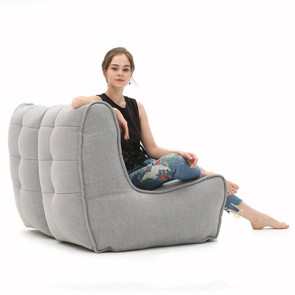 ambient lounge twin couch keystone grey
