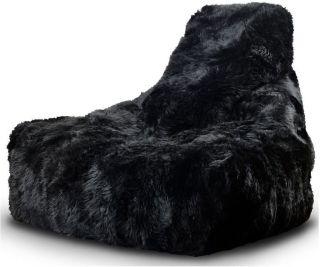Extreme Lounging B-Bag Mighty-B Indoor Zitzak Sheepskin - Zwart