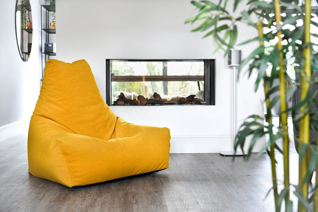 extreme lounging bbag mightyb indoor zitzak suede mustard