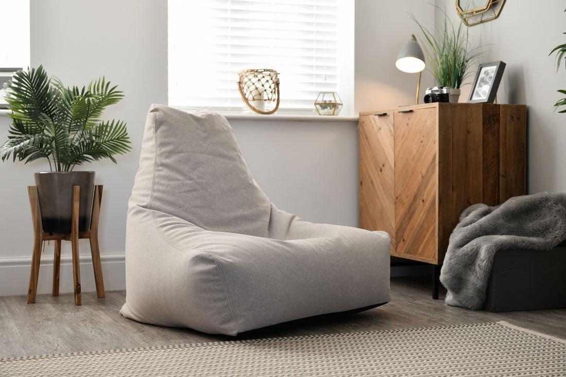extreme lounging bbag mightyb indoor zitzak suede stone