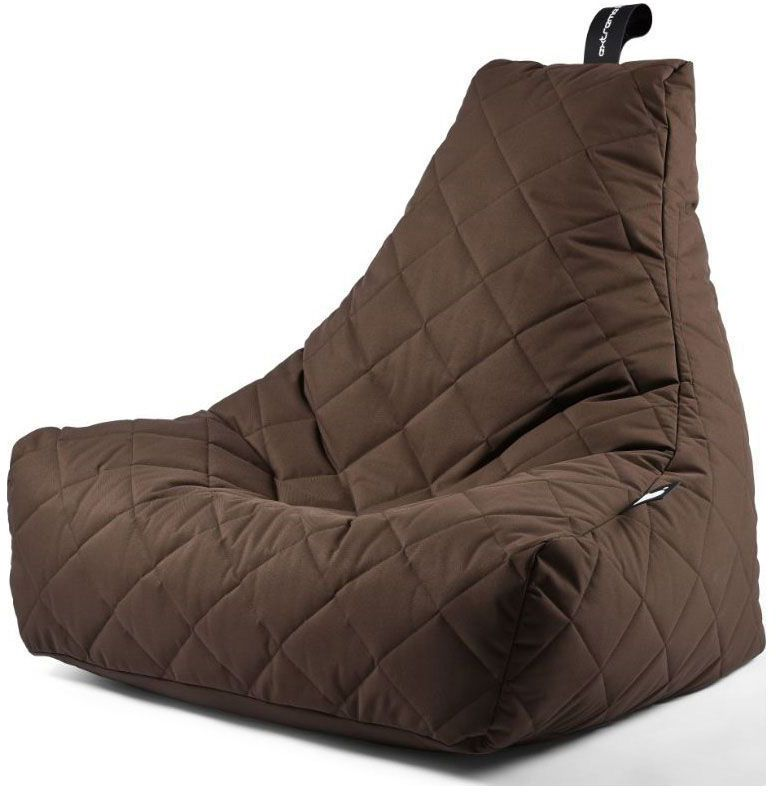 extreme lounging bbag mightyb zitzak quilted bruin