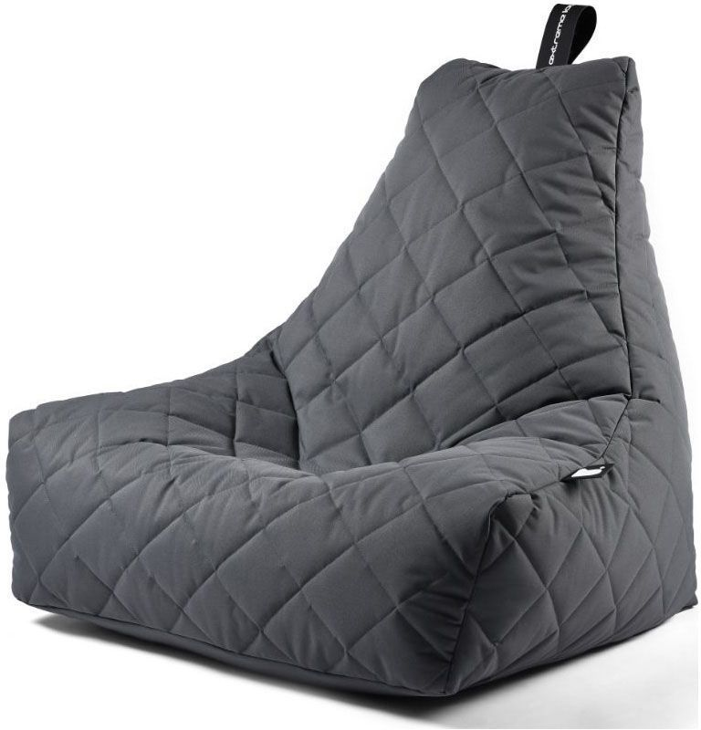 extreme lounging bbag mightyb zitzak quilted grijs