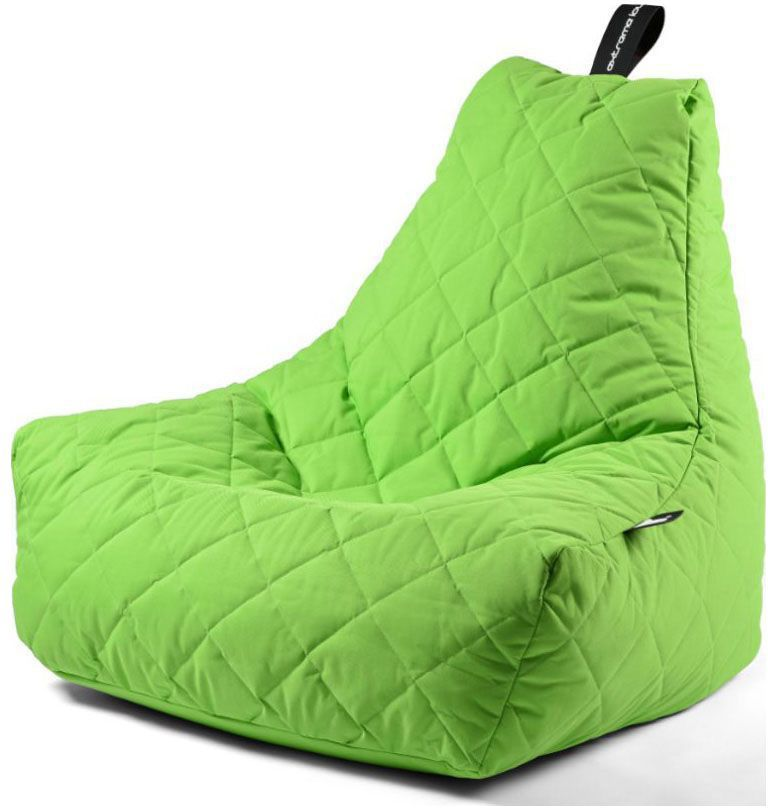 extreme lounging bbag mightyb zitzak quilted lime