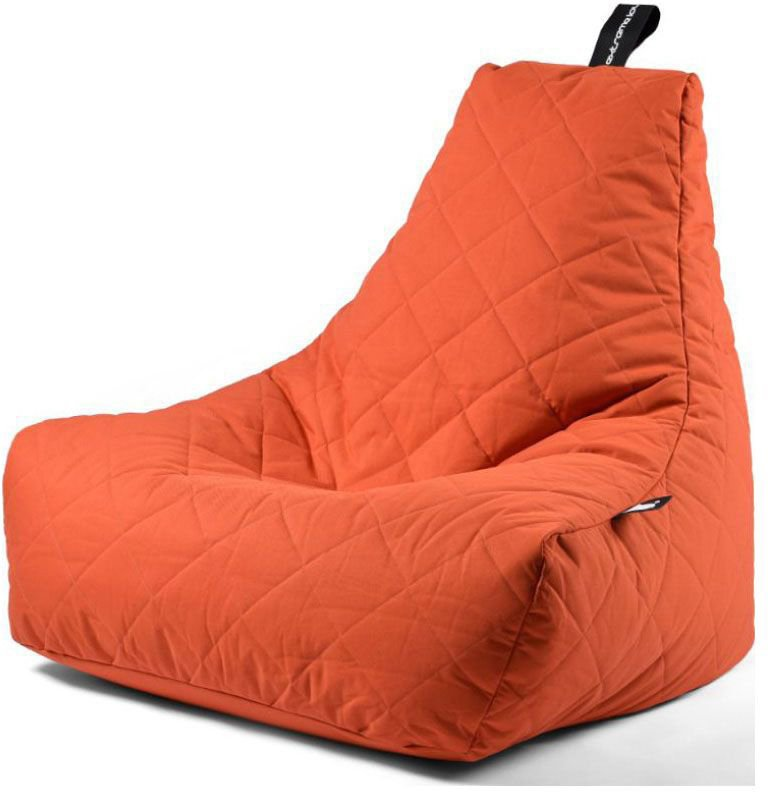 extreme lounging bbag mightyb zitzak quilted oranje