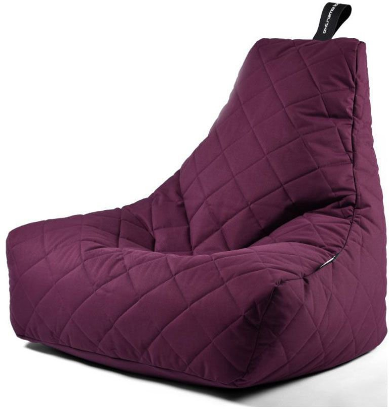 extreme lounging bbag mightyb zitzak quilted paars