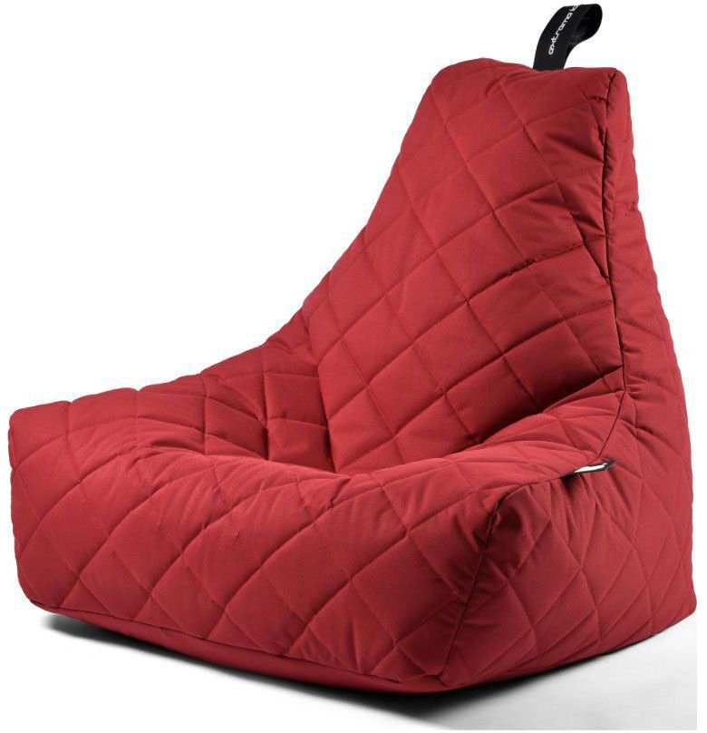 extreme lounging bbag mightyb zitzak quilted rood