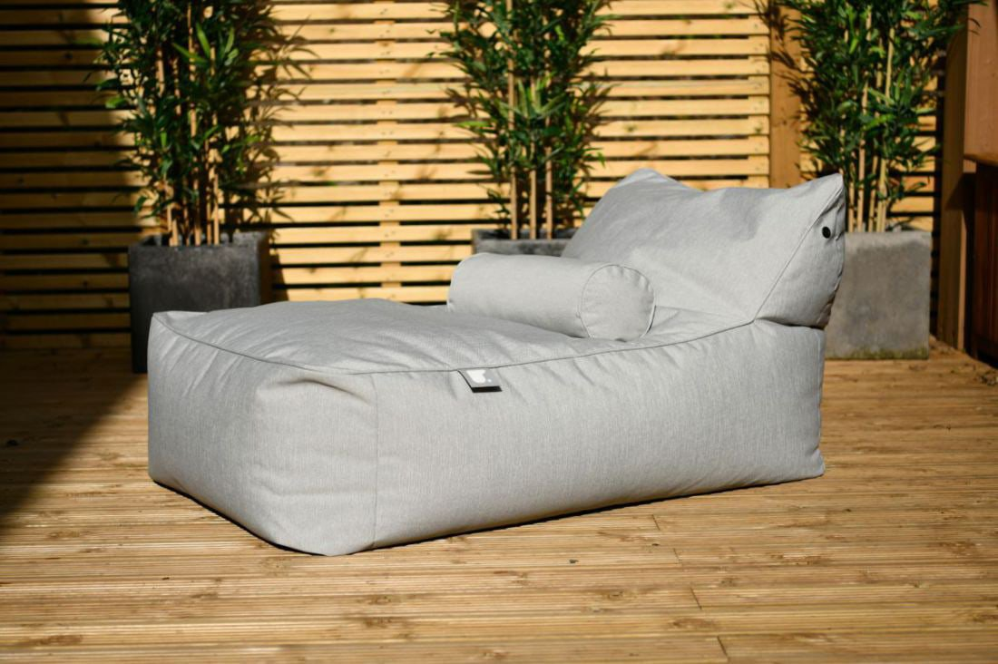 extreme lounging bbed lounger ligbed pastel grijs