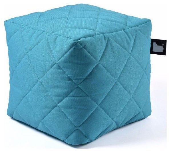 extreme lounging bbox quilted poef aqua