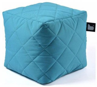 Extreme lounging B-Box Quilted Poef - Aqua