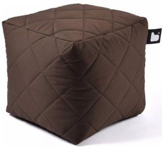 Extreme lounging B-Box Quilted Poef - Bruin