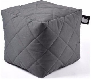 Extreme lounging B-Box Quilted Poef - Grijs