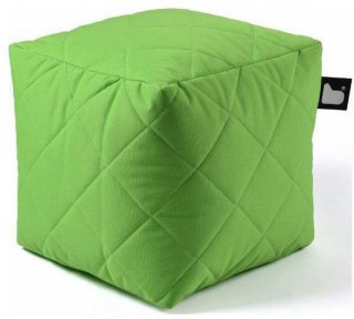 Extreme lounging B-Box Quilted Poef - Groen