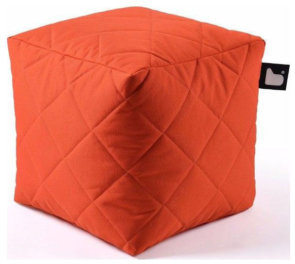 extreme lounging bbox quilted poef oranje