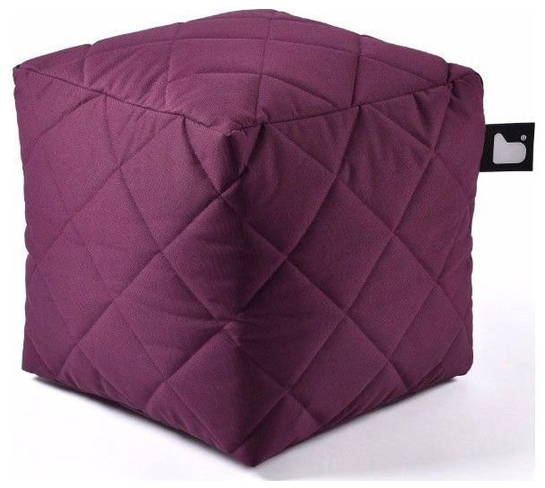 extreme lounging bbox quilted poef paars