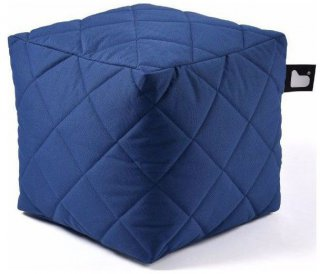 Extreme lounging B-Box Quilted Poef - Royalblue