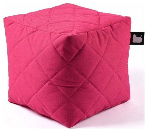 extreme lounging bbox quilted poef roze