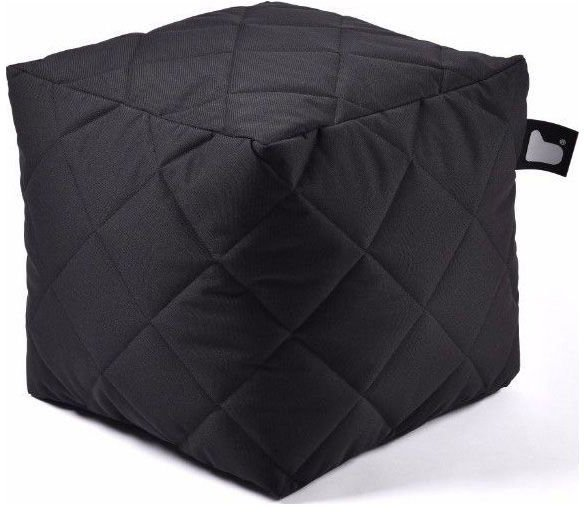 extreme lounging bbox quilted poef zwart