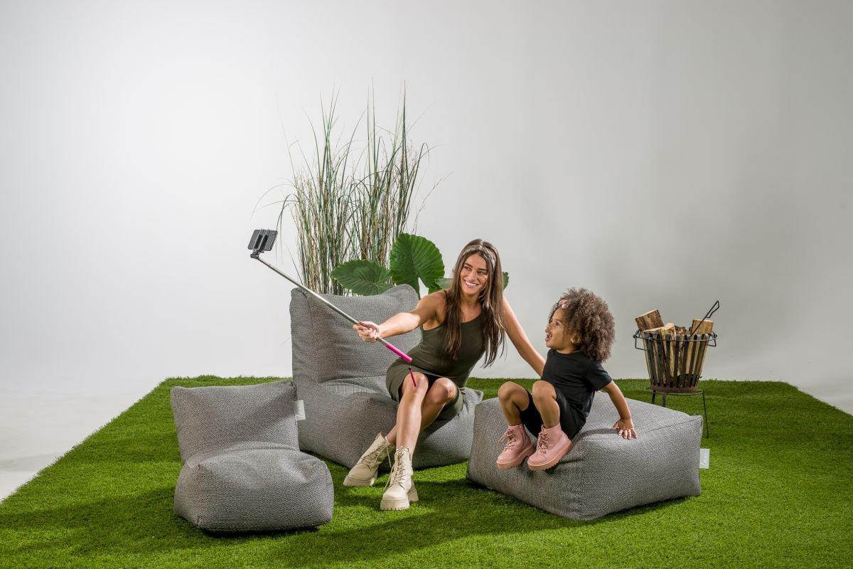 laui lounge poef basic square outdoor antraciet