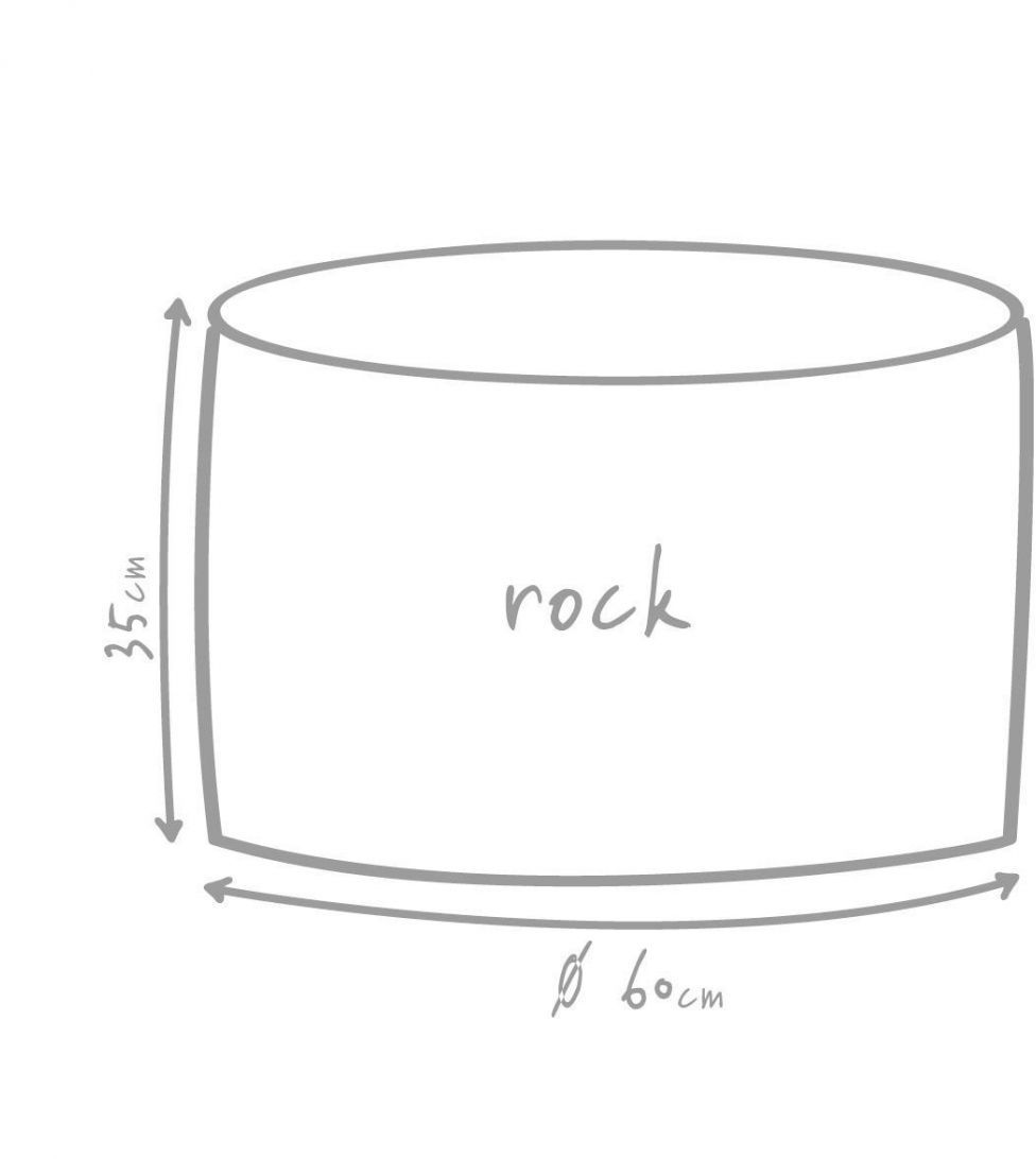 outbag poef rock plus grijs