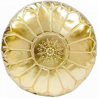 Poufs&Pillows Poef Leder - Gold