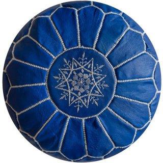 Poufs&Pillows Poef Leder - Hemels Blauw