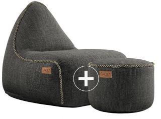 SACKit Cobana Lounge Chair & Pouf - Grijs