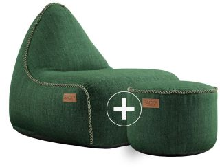 SACKit Cobana Lounge Chair & Pouf - Groen