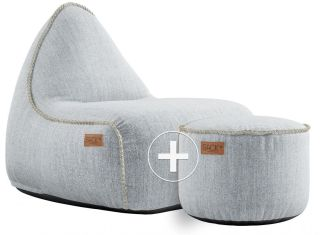 SACKit Cobana Lounge Chair & Pouf - Wit