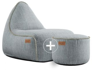 SACKit Cobana Lounge Chair & Pouf - Zand
